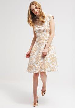 Chi Chi London - CHAR - Sukienka koktajlowa - cream/gold