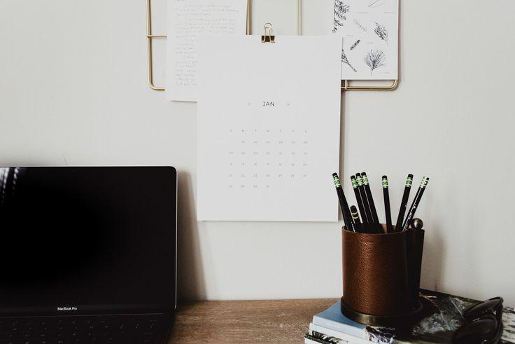 Free 2018 Month Printable Desk Calendar   Lauren Nicole Co. calendar download free, free 2018 calendar, minimal calendar, free calendar, download calendar, calendar download, simple calendar, desk calendar