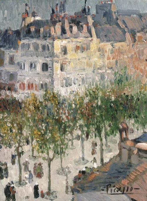 poboh:    Boulevard de Clichy, Pablo Picasso. (1881 - 1973)