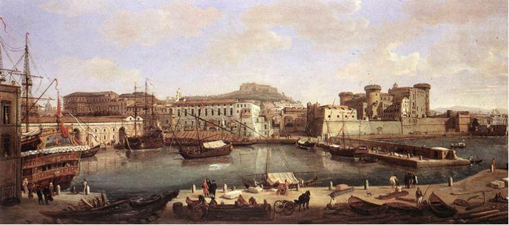Vista del puerto de Nápoles