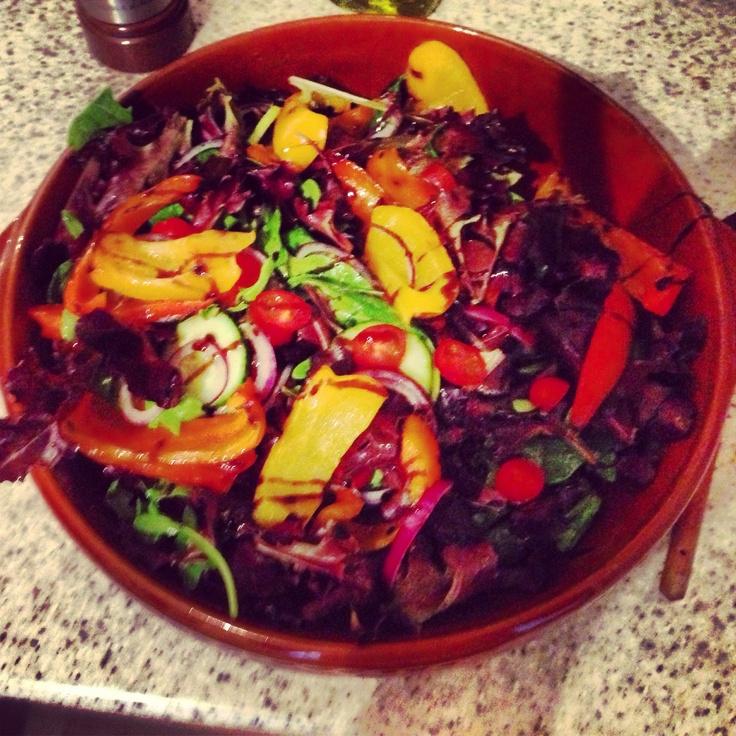 Lovely Summer Salad at Josh and Tegan's.