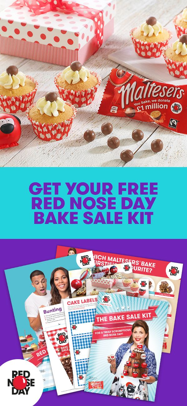 Is baking your thing? Turn your hobby into money for a good cause when you order a free Red Nose Day Bake Sale Kit. It's chock-full of recipes, tips, cake labels, posters and everything else you need to have a bake sale that's sure to be a success. Order your kit on the Red Nose Day website and make the world a better place one sweet treat at a time.