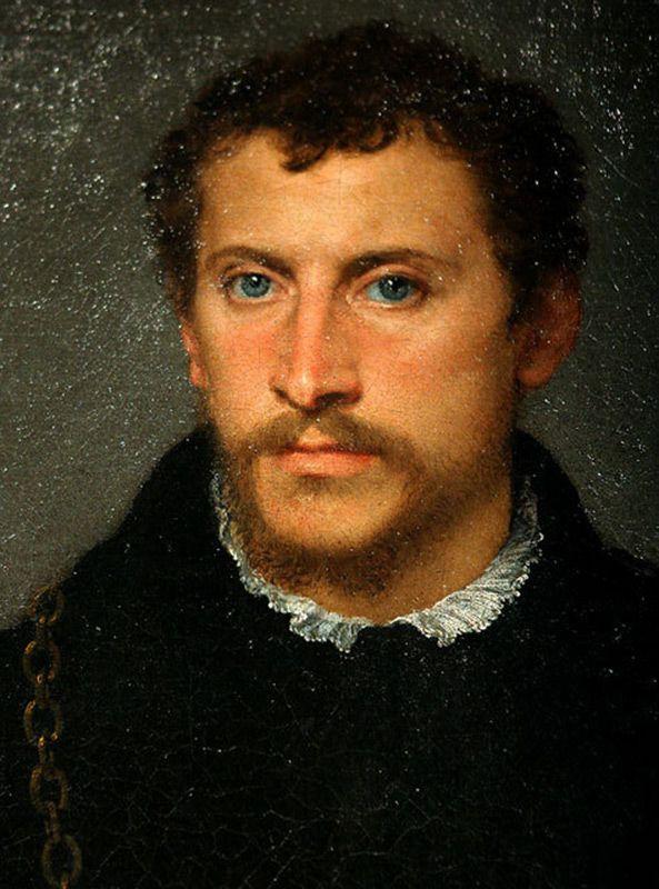 Тициан. Портрет неизвестного с серыми глазами. Короткая стрижка.