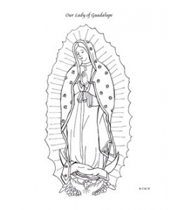 our lady of guadalupe catholic coloring page feast day is december