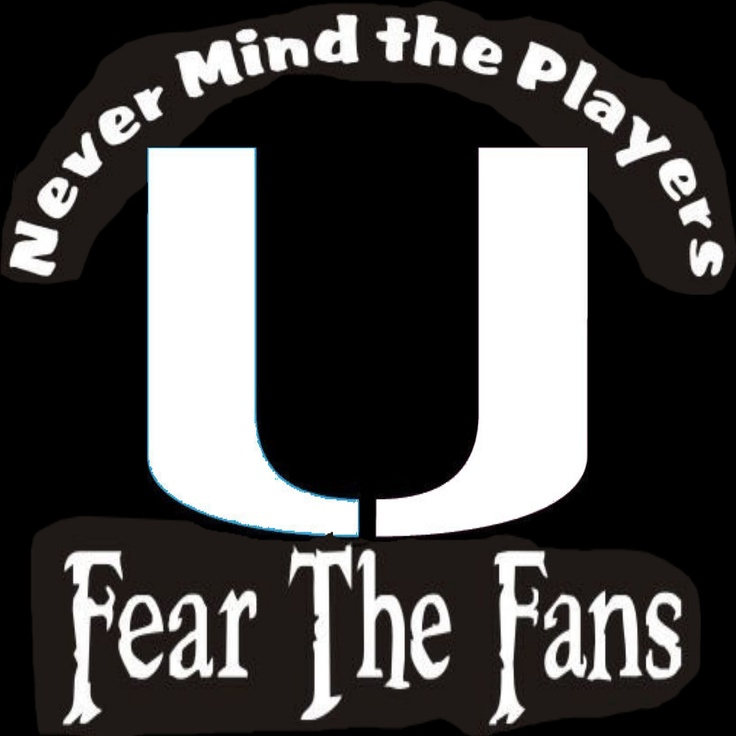 New Custom Screen Printed Tshirt Never Mind The Players Fear The Fans Miami Football Small - 4XL Free Shipping. $16.00, via Etsy.