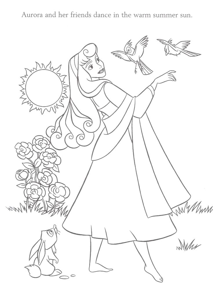 Free sleeping beauty pages to color things to print for Sleeping beauty coloring pages to print