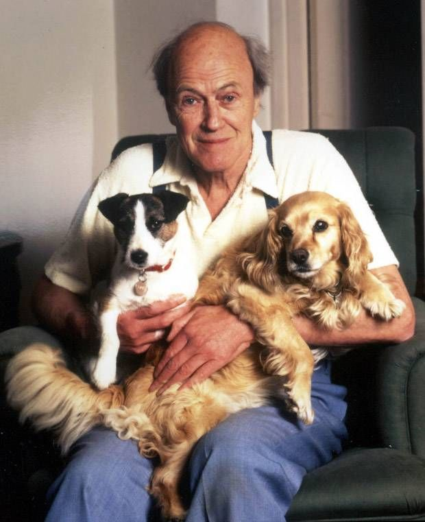 Roald Dahl. Children's author. Look at his dogs! Obviously a genius of a man!
