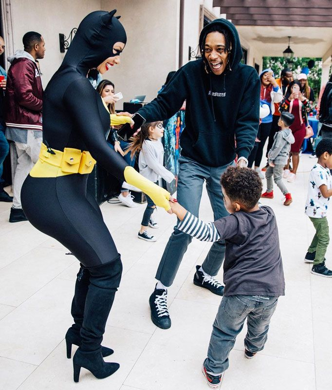 After a PDA-filled Grammy weekend, Wiz Khalifa and Amber Rose celebrated their son Sebastian's fourth birthday with a superhero-themed bash on Sunday (Feb. 19). Dressed as Batman and Batwoman, the co-parents danced with Bash, who dressed as Catboy and the Joker during the party. His guests included Batgirl and Supergirl, as young ones dressed …