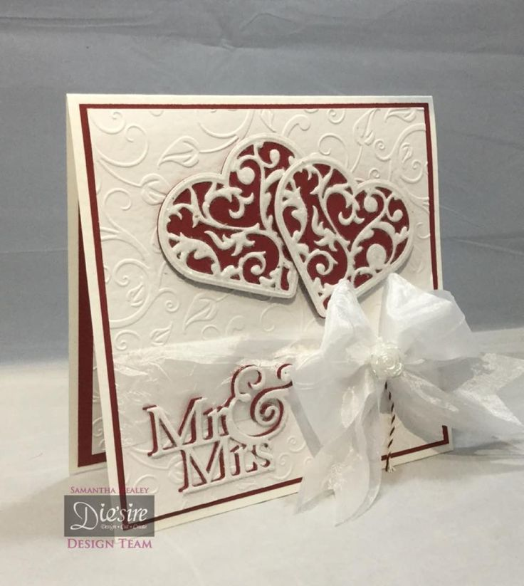 Sam Healey - Sara Davies Signature Collection Together Forever - Forever In My Heart die, Mr & Mrs die, Vine Leaves embossing folder, White Hammered card - Collall 3D Glue Gel, All Purpose and Tacky glues - #crafterscompanion
