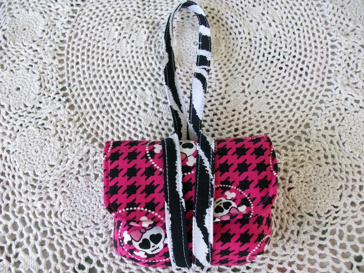 Skull and Zebra Print Digital Camera Case by ArelelDesigns on Etsy