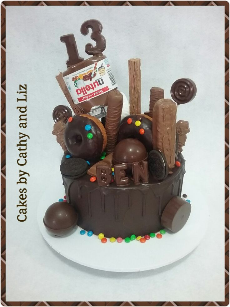 Chocolate and nutella birthday cake
