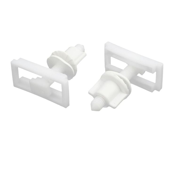 9mm Dia Thread PP Toilet Seat Hinge Bolt Screw Replacement Part White 2pcs