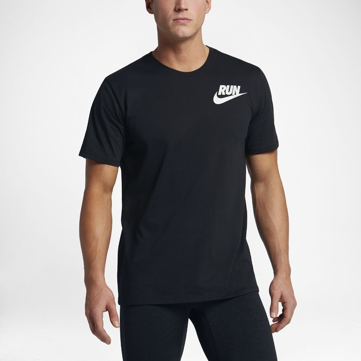 Nike Dry Men's Running T-Shirt Size Medium (Black) - Clearance Sale