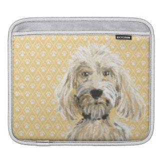 Labradoodle dog painting iPad pad horizontal iPad Sleeve