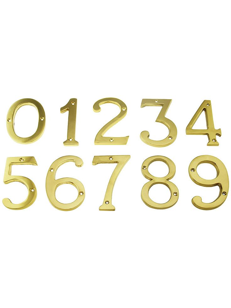 4 Cast Brass House Numbers With Choice Of Finish House Of Antique Hardware House Numbers Antique Hardware It Cast