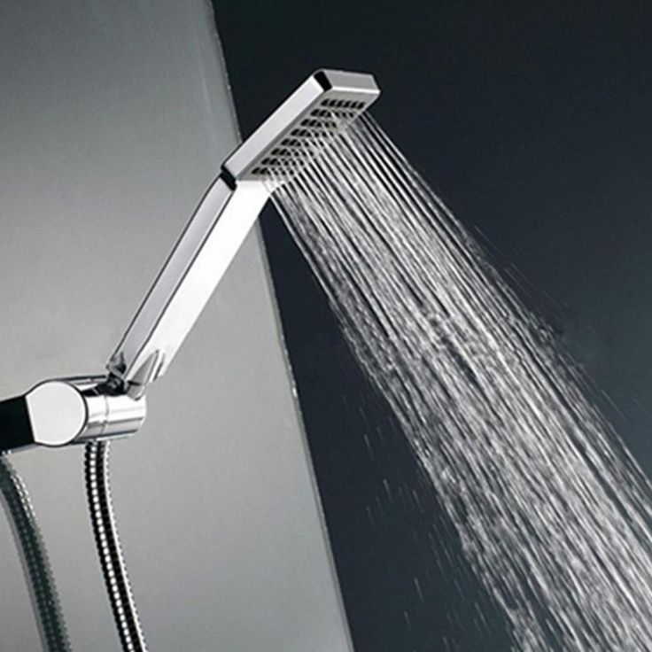Nozzle Aerator High Pressure Shower Head Chrome Water Saving Square ABS With Chrome Plated Bathroom Rainfall Shower