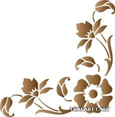 Blomma vinkel 22 • mall till konstverk •