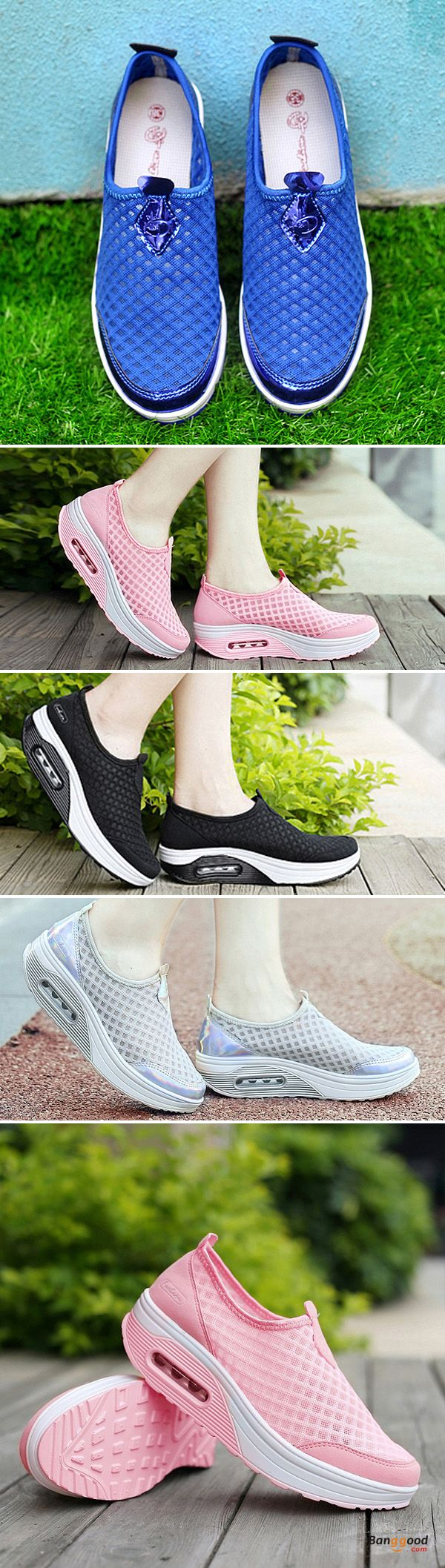 US$28.99 + Free shipping. Size(US): 5~11. Color: Black, Gray, Pink, Blue. Upper Material: Mesh. Fall in love with casual and sport style! Summer Sandals, Women Flat Sandals, shoes flats, shoes sandals, Casual, Outdoor, Comfortable.