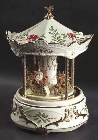 Lenox HOLIDAY FIGURALS Carousel Musical Centerpiece