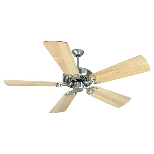 CXL Stainless Steel Ceiling Fan with 52-Inch Plus Series Maple Blades