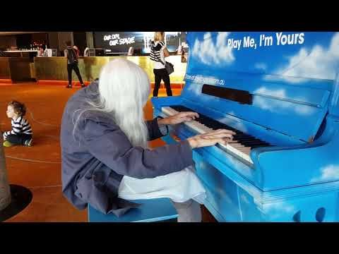 Natalie Trayling plays a Street Piano Hamer Hall Melbourne (Spontaneous Composition) - YouTube
