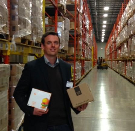 USA here we come! John visiting our US warehouse and seeing our brand new US stock. #LoveChildOrganics #USA #organic