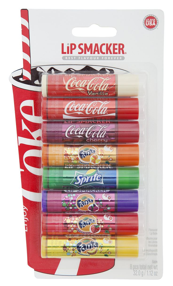 Lip Smacker Coca Cola and Fanta Party Lip Balm Pack of 8: Amazon.co.uk: Beauty
