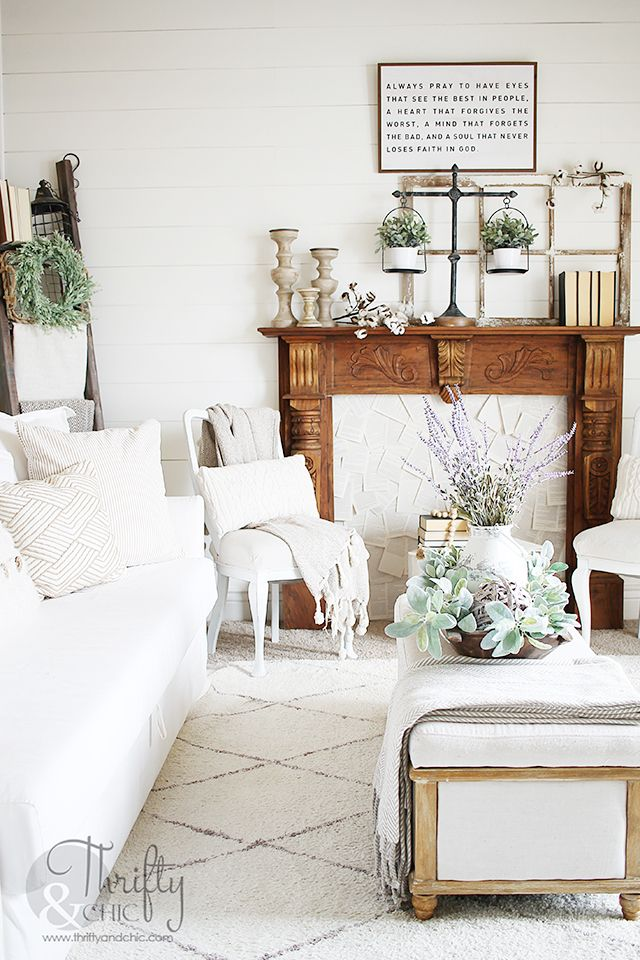 Living Room Spring Decor And Decorating Ideas How To Decorate For Spring Neutr White Living Room Decor Farmhouse Dining Rooms Decor Living Room Decor Neutral
