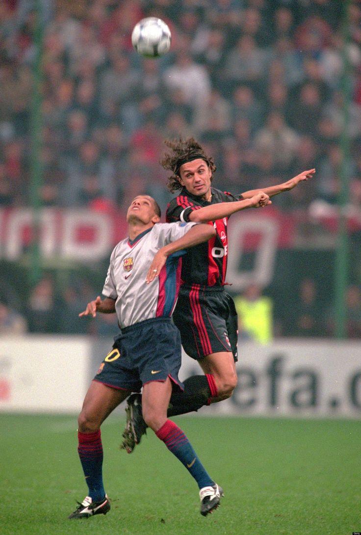 Maldini vs Rivaldo AC Milan vs Barcelona