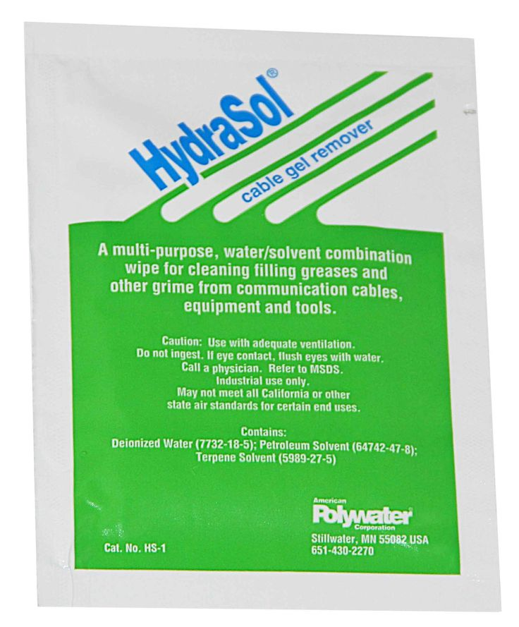 Hydrasol Saturated Lint Free Wipes - 12 Pack Box