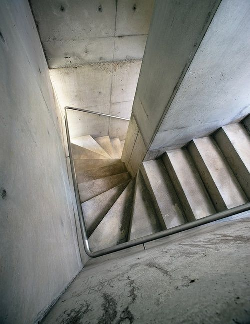 concrete stairway. Simplicity can be beautiful
