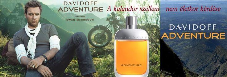 Davidoff Adventure férfi parfüm    http://www.parfumdivat.hu/parfumdivathazak/davidoff-adventure-ferfi-parfum.html A koncepció A kalandor szellem nem életkor kérdése, hiszen minél többet él az ember, annál többet fedez fel önmagáról, köszönhetően a rengeteg, váratlan szituációnak, amivel találkozik. Az illat egy olyan férfi illata, akinek fontosak az értékei, bátor és akaraterős, éli és élvezi az életet és az érzéseket.  Tapasztalja meg az ismeretlen izgalmát!