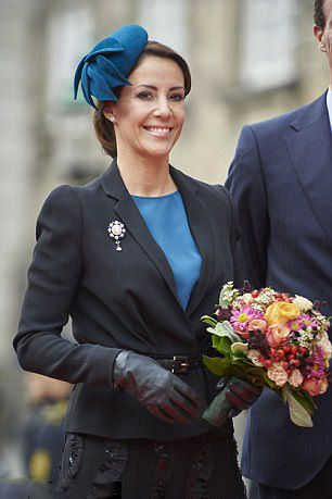 Princess Marie of Denmark, swept her hair into a loose chignon, attended the 500th anniversary of the Reformation movement in Copenhagen