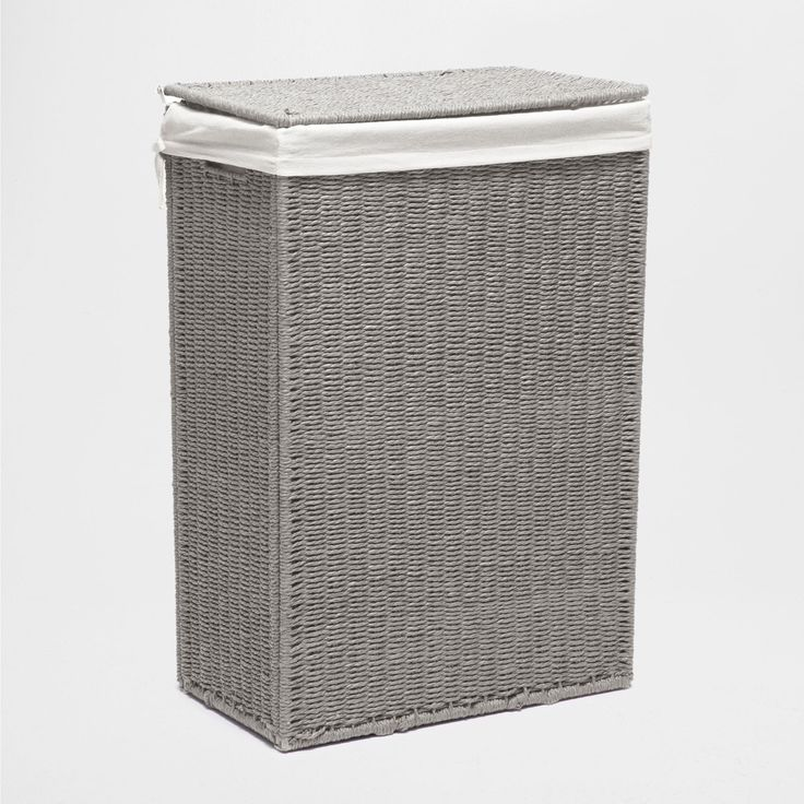 GRAY FABRIC-LINED LAUNDRY HAMPER - Baskets - Decoration | Zara Home United…