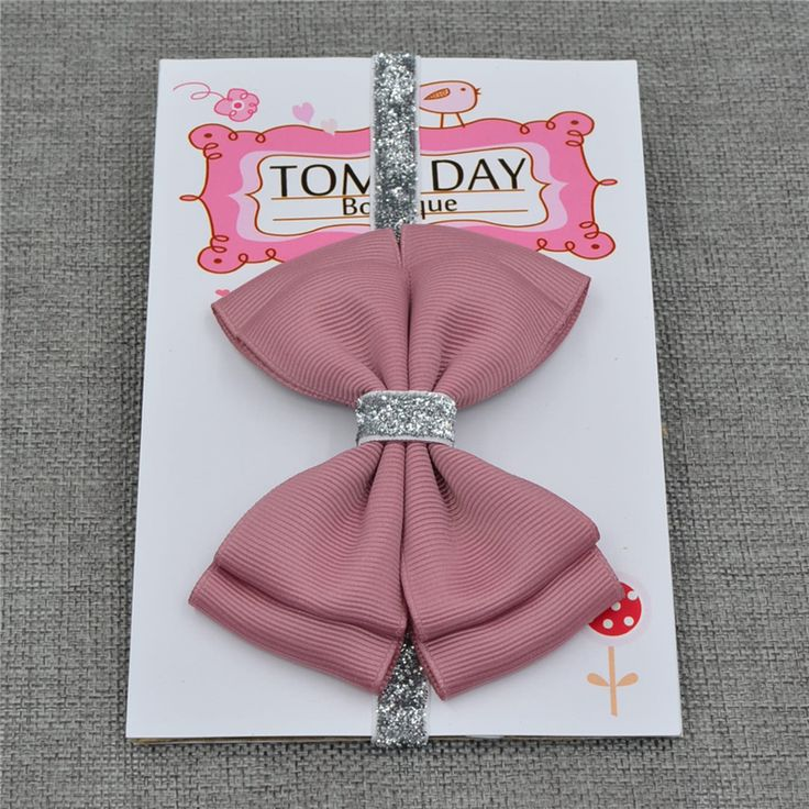 22 color new Baby hair bow flower Headband Silver ribbon Hair Band Handmade DIY hair accessories for children newborn toddler