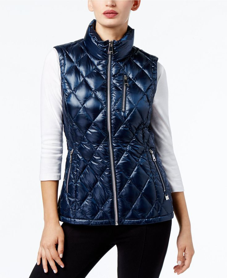 Calvin Klein Metallic Quilted Puffer Vest Where Function Meets Street Wear For A Warmer Cool Look Quilted Puffer Vest Blazer Jackets For Women Poncho Outfit