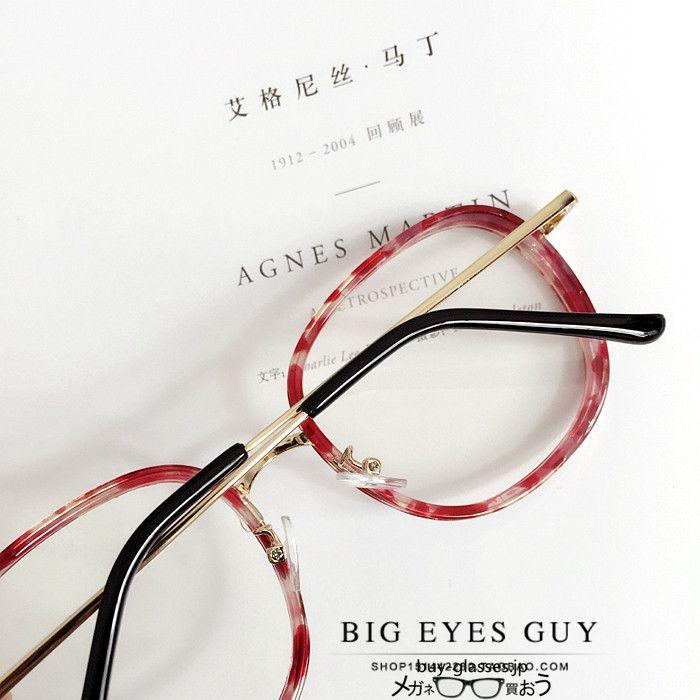 安いメガネフレームラウンド型形度なし伊達メガネ眼鏡度いり