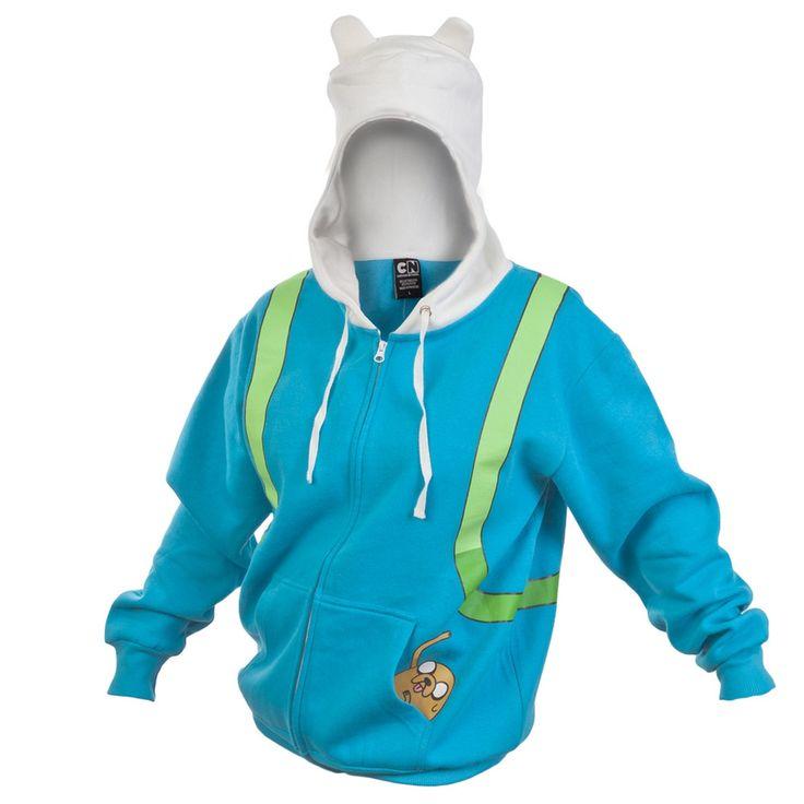 Adventure Time - Finn Juniors Costume Zip Hoodie