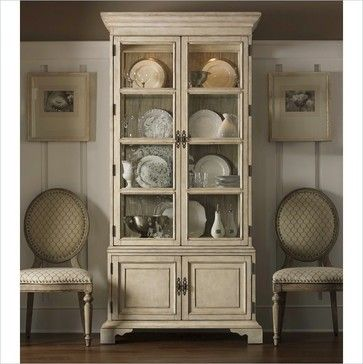 Lexington Twilight Bay Pierpoint Display Cabinet Traditional Bookcases Cabinets And Computer