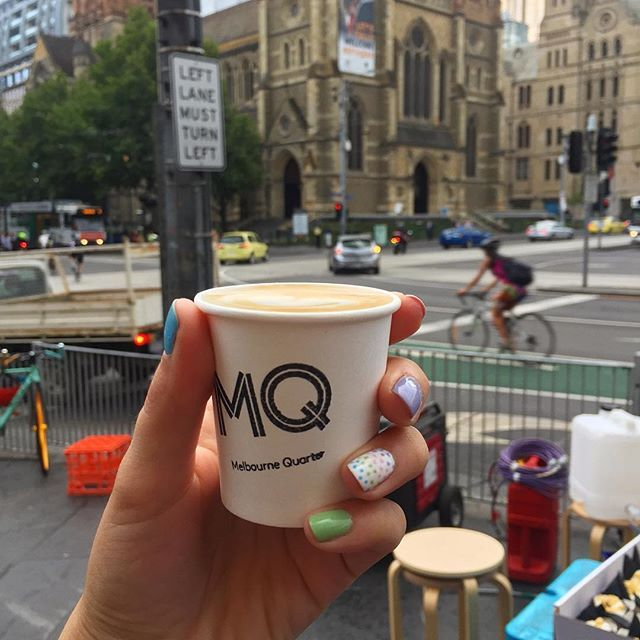 Oh Melbourne you sly minx of a city! How I do love you. Fresh nails thanks to @nail_bait and free coffee & donut at the iconic Flinders St station. Woo hoo! Thanks to @codeblackcoffee and @alldaydonuts for this sneaking morning treat. Feeling the love on