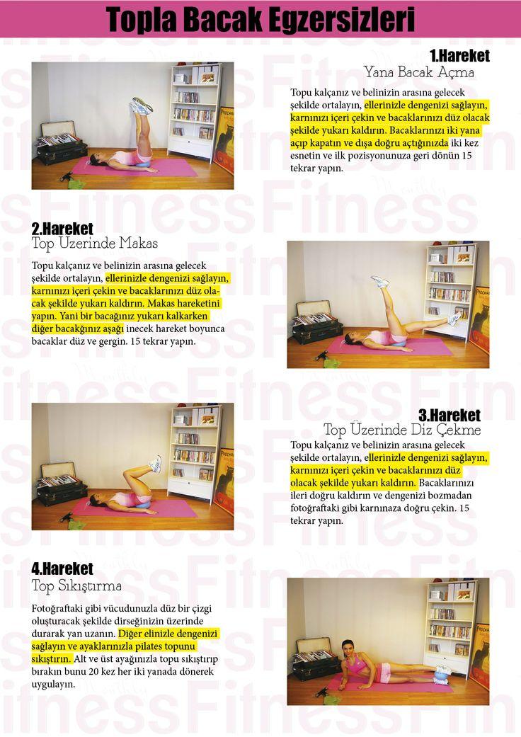 Monthly Fitness dan Evde yapabileceğiniz Topla Bacak Egzersizleri.. www.monthlyfitness.com
