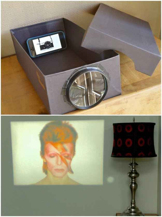 how to make a slide projector at home