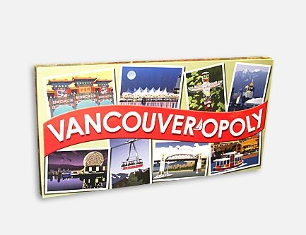 Vancouverites will have fun playing this Vancouver Opoly Board Game. Hours of fun!