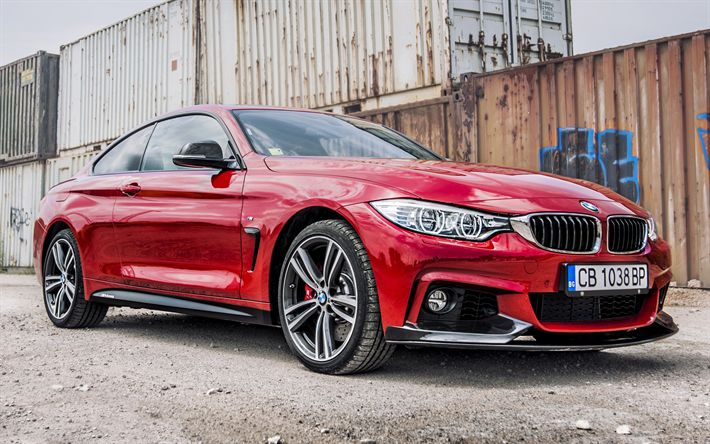 Download wallpapers BMW 4-Series Coupe M Performance Red Edition, F32, tuning, sportcars, red m4, BMW
