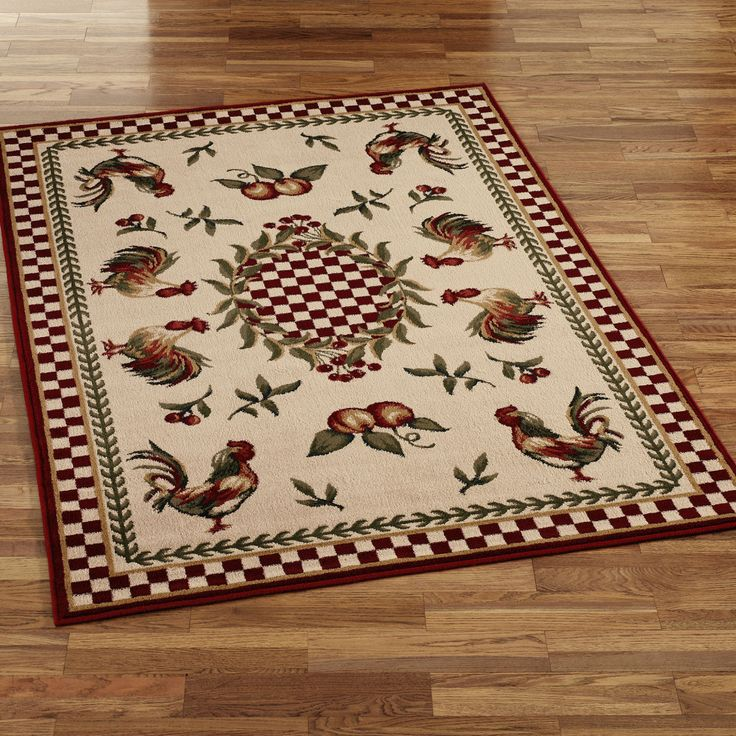 Lovely Get New Look For Your Kitchen With Rooster Kitchen Rug : Avalon Rooster  Round Rugs