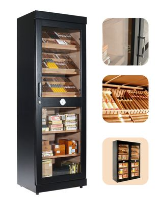 Humidor adorini Roma (black) electronic humidor cabinet