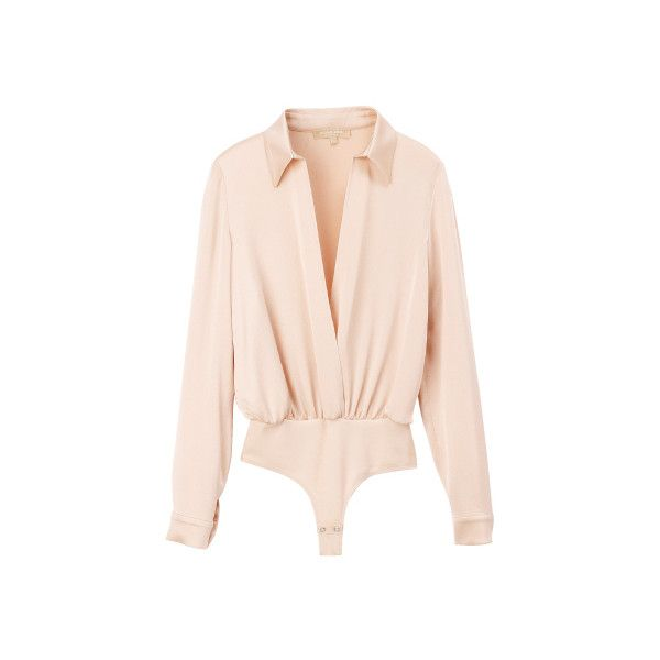 マイケル・コース(MICHAEL KORS)|Item Searchファッション|VOGUE ❤ liked on Polyvore featuring tops, blouses, shirts, bodysuits, pink bodysuit, shirt blouse, bodysuit blouse, shirt bodysuit and bodysuit shirt