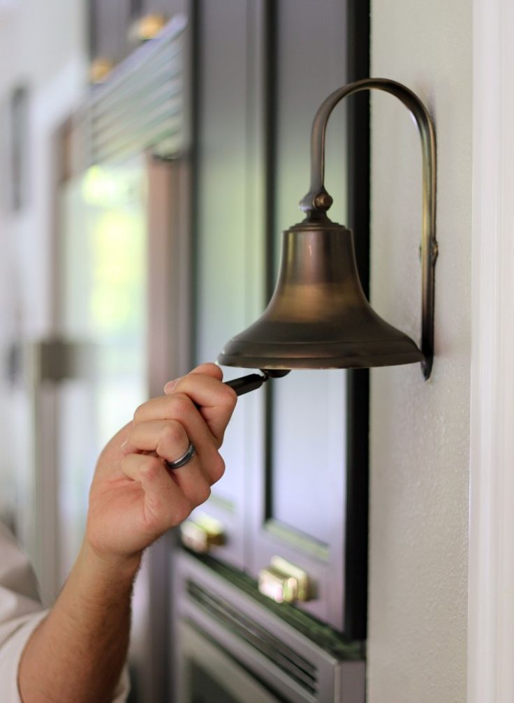 Dinner Bell in Brushed Antique | Rejuvenation