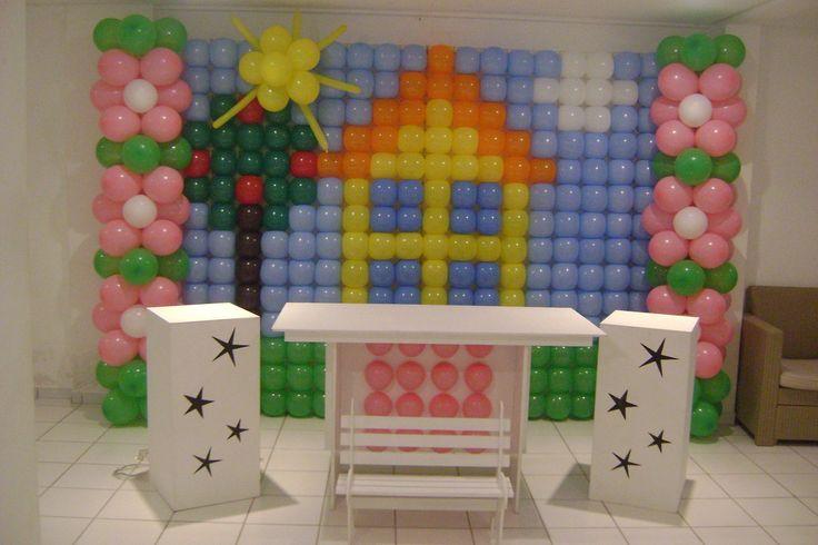 Ótima sugestão para aniversário no tema Peppa Pig. <br> <br>Fazemos somente o painel e também decoração completa. <br> <br>Faça seu orçamento!!