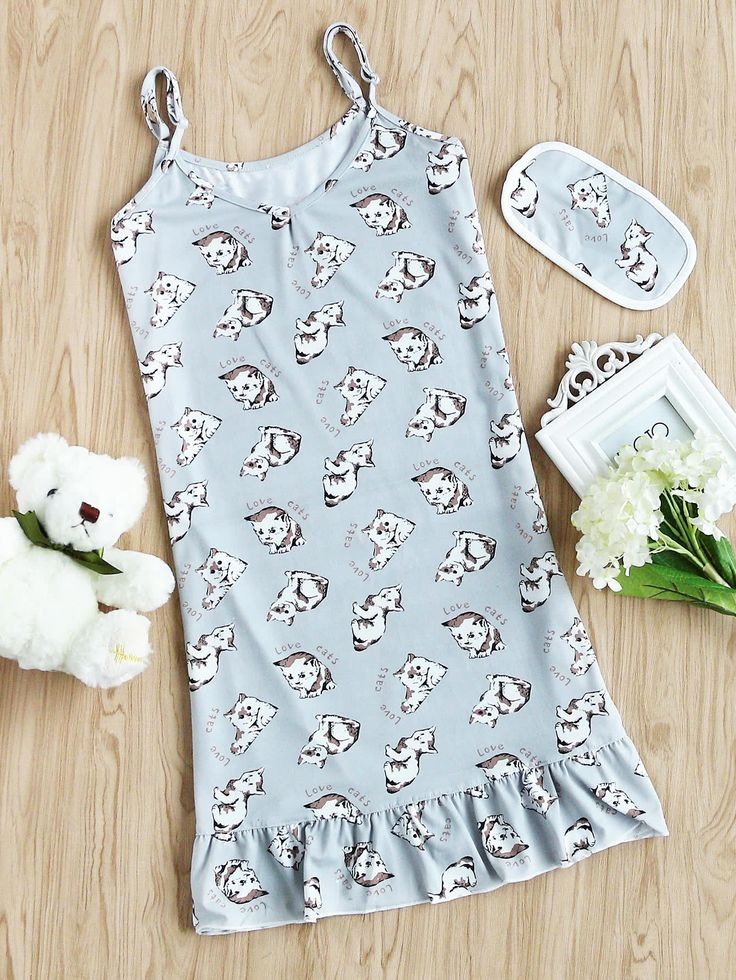 Shop Cats Print Slip Night Dress online. SheIn offers Cats Print Slip Night Dress & more to fit your fashionable needs.